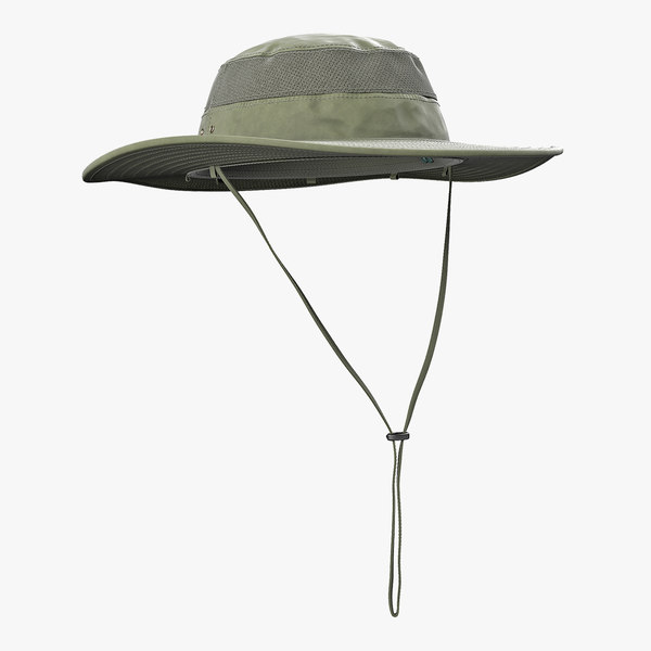 3D green fishing hat