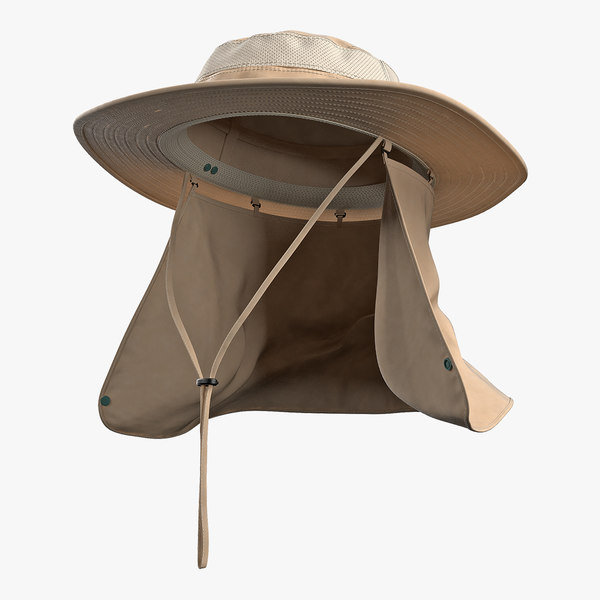 3D khaki outdoor fishing hat