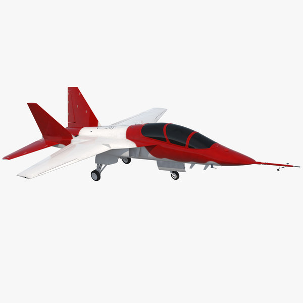 military trainer aircraft simple 3D model
