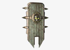 3D undead shield