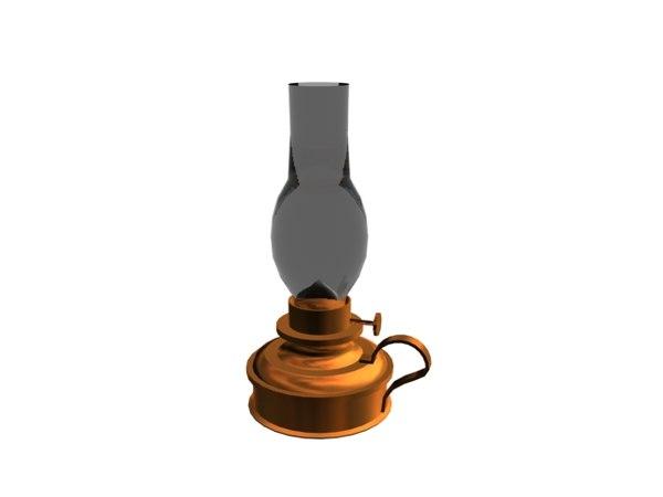3D oil lamp lantern