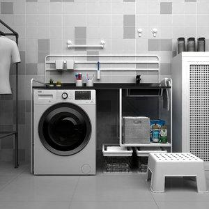 cleaning bathroom ikea unit 3D model