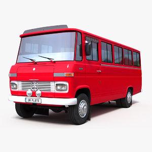 3D old minibus