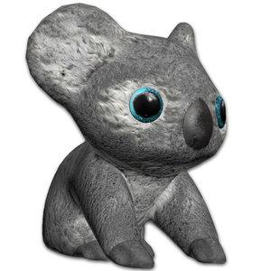 3D plush koala bear model