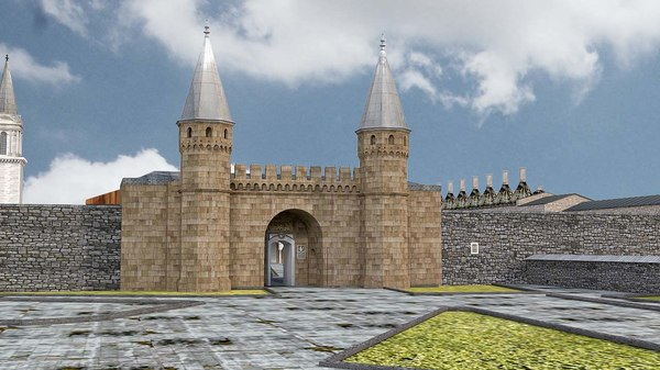 topkapi palace saray 3D model