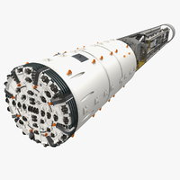 3D model tunnel boring machine