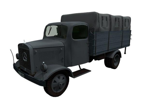 l3000 mercedes military 3D model