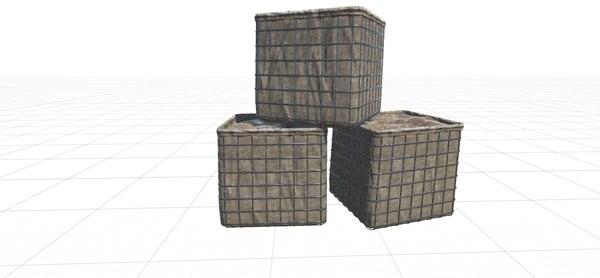 basket barricade hesko 3D model