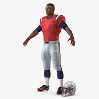 american football player t-pose 3D model