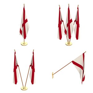 3D model flag office cycles