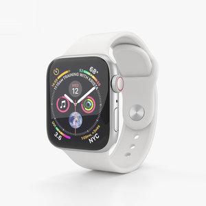 apple watch silver 3D model