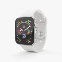 3D apple watch silver