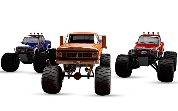 3D pack 6 monster trucks
