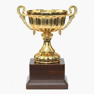 3D realistic trophy cup 2