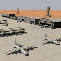 military air base 3D model