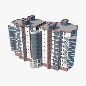 3D model hotel architecture building