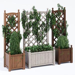 3D lexington wood trellis