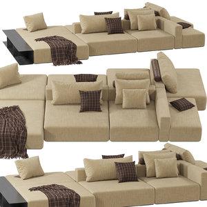 poliform westside divano sofa 3D model