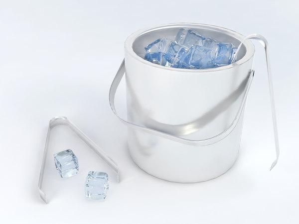 pack medium ice polys 3D model