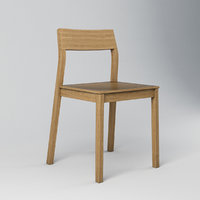 minimalistic wooden chair 3D model
