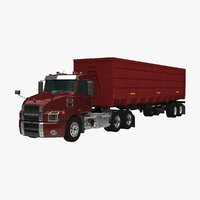 3D mack anthem gondola trailer model