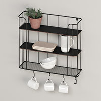 3D store shelf industrial hooks