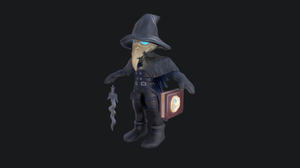 3D model crow character