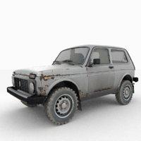 lada niva 4x4 car 3D