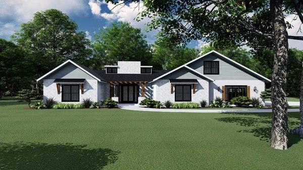 gable house 3D model