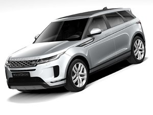 3D model land rover evoque 2021