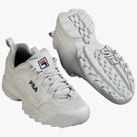 3D realistic sneakers fila model