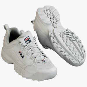 3D realistic sneakers fila model
