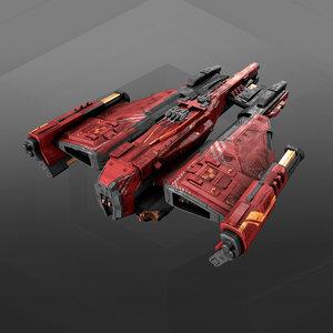 destroyer 3D model
