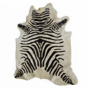 3D wool zebra rug