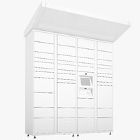 delivery lockers lock 3D model