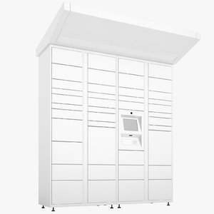 delivery lockers lock 3D model