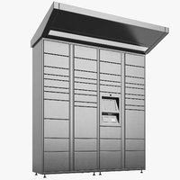 3D delivery lockers lock