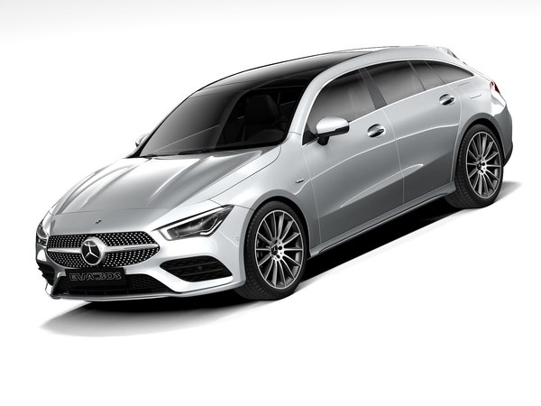 3D mercedes-benz cla shooting brake model