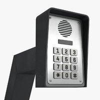 3D keypad gate opener