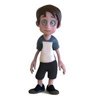 toon boy 3D model