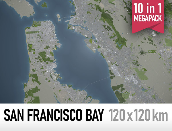 san francisco bay area 3D model