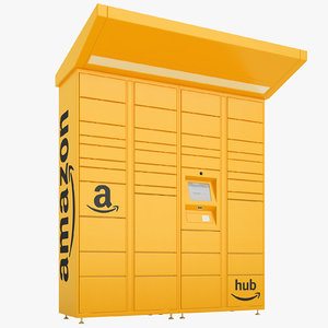 3D amazon delivery lockers
