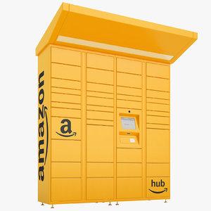 3D amazon delivery lockers