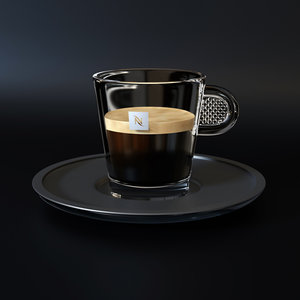 nespresso glass cup coffee 3D model