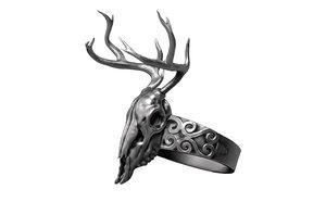 skull deer jewelry 3D model
