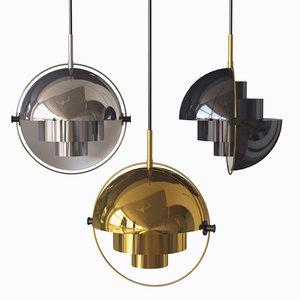 multi-lite pendant light gubi 3D