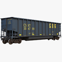j311 coal gondola open 3D model
