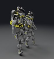 Astronaut Space Suits - Rigged
