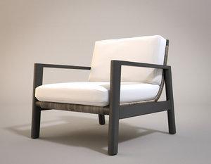 mesa aluminum lounge chair 3D model