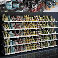 3D showcase 004 canned food